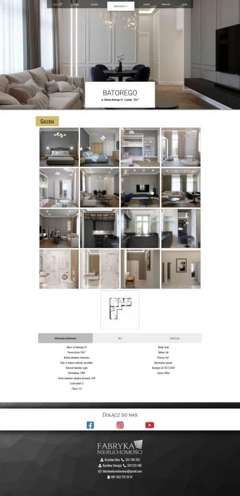 Podgląd realizacji mieszkania Batorego z rozwiniętą galerią Fabryka Nieruchomości