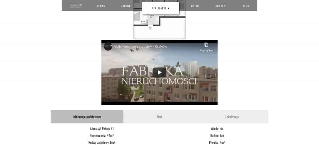 Podgląd realizacji mieszkania aleja Pokoju Fabryka Nieruchomości