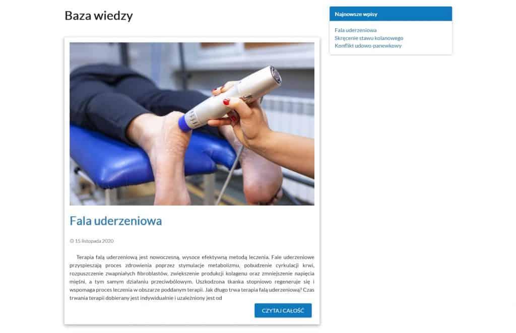 Blog na stronie Feniks Rehabilitacja-Fizykoterapia