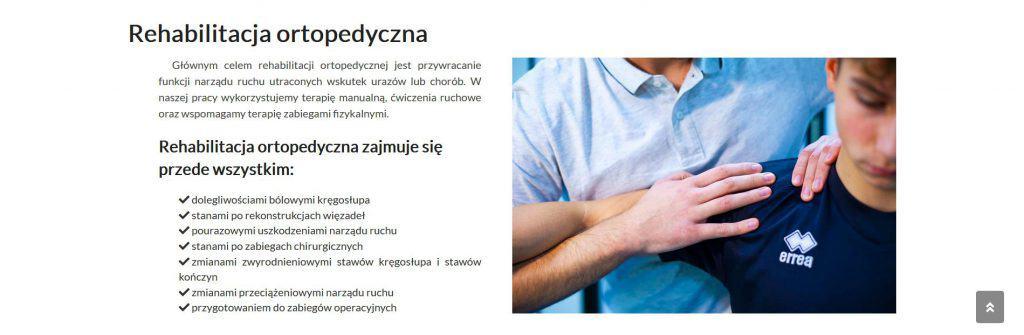 Opis oferty rehabilitacja ortopedyczna Feniks Rehabilitacja-Fizykoterapia