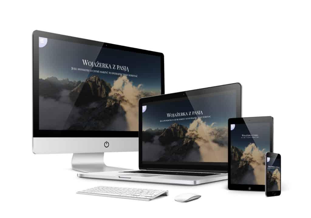 Mockup responsywny design Wojażerka z pasją nowy